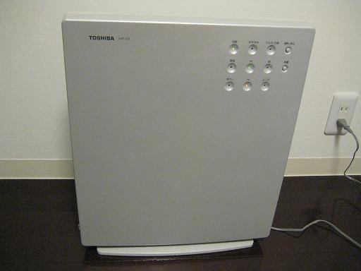 東芝の空気清浄機を買った。