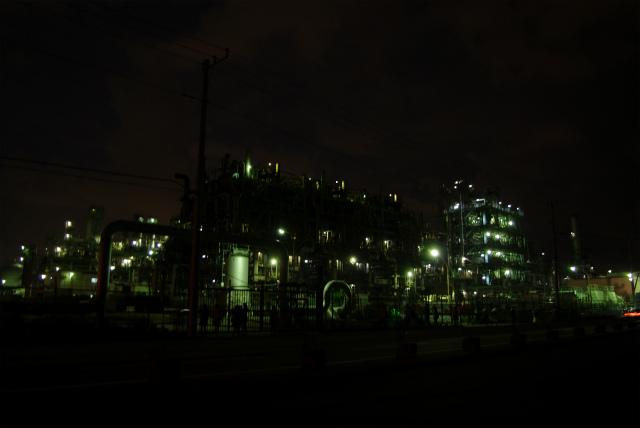 川崎工場地帯_浮島JCT付近夜景