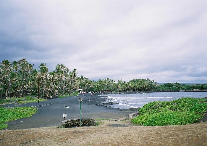 [ハワイ旅行] ウミガメに会いにプナルウ黒砂海岸へ…