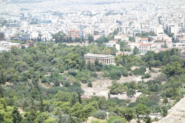 [ギリシャ旅行] アテネ2日目(2) 古代アゴラ遺跡とリカヴィトスの丘へ