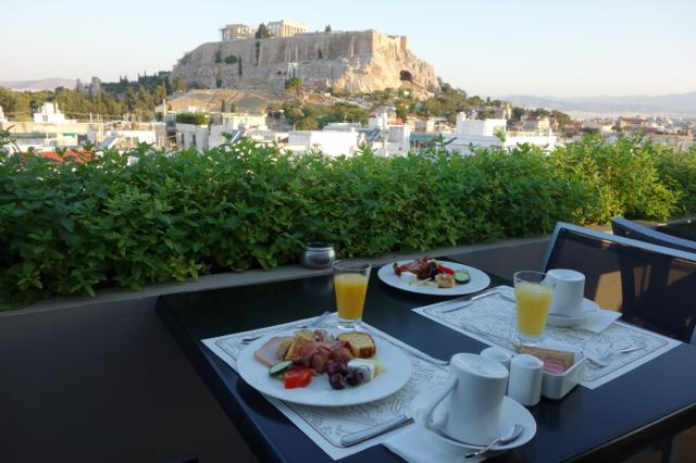 Athens Gate Hotelの朝食