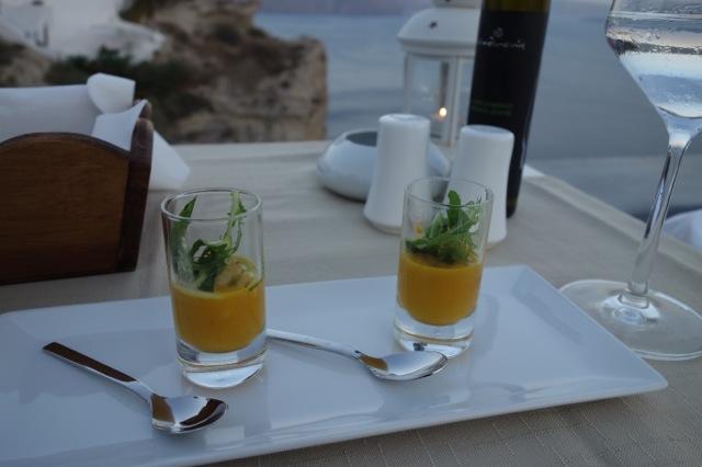 Andronis luxurysuitesのディナー2