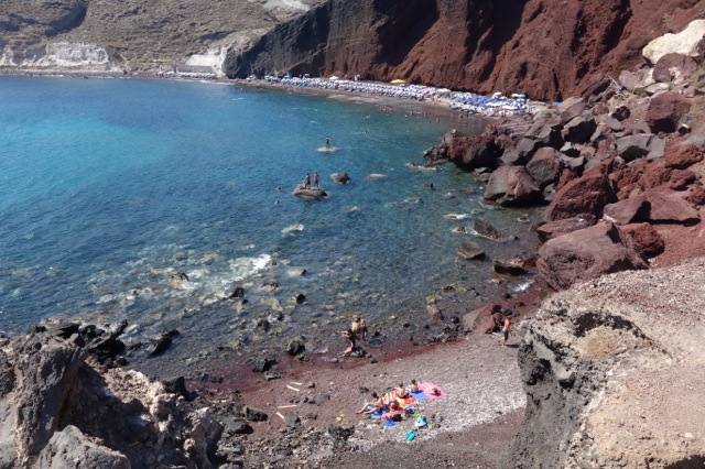サントリーニ島レッドビーチ