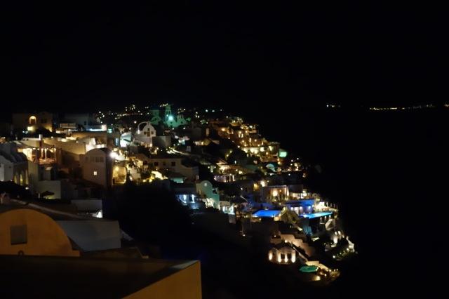 サントリーニ島イアの夜景