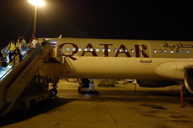 カタール航空機(ドーハ空港)