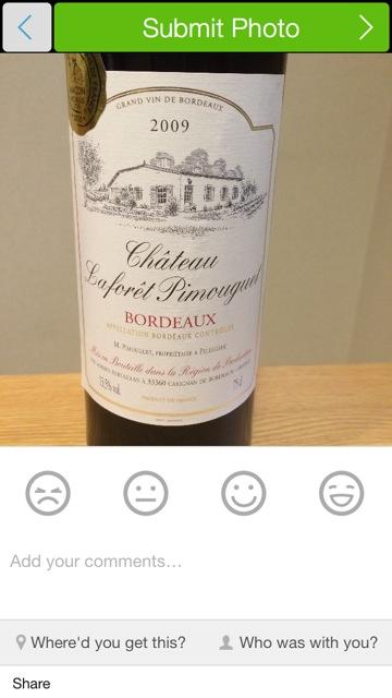 Delectable Wine 写真送信