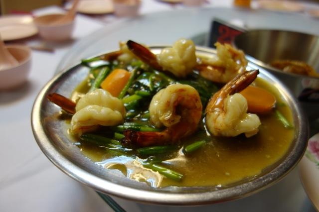 ヒルマン海老と青菜炒め