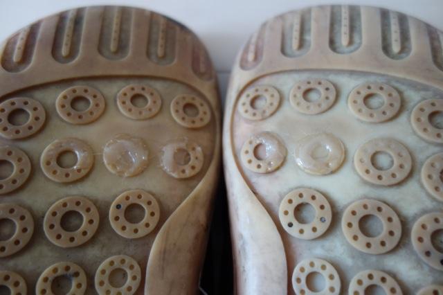 シューグーで補修した靴底
