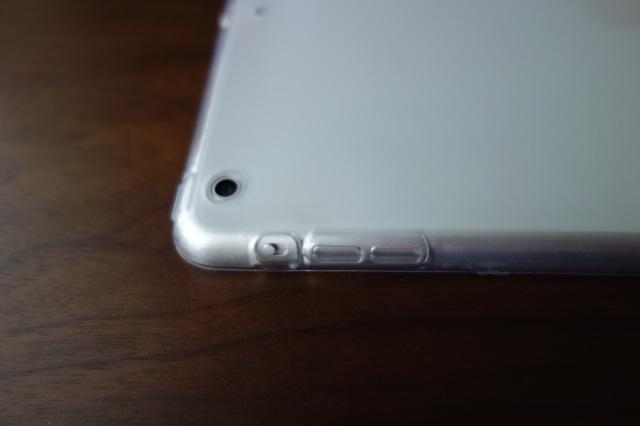iPad Air用ソフトケース物理ボタン
