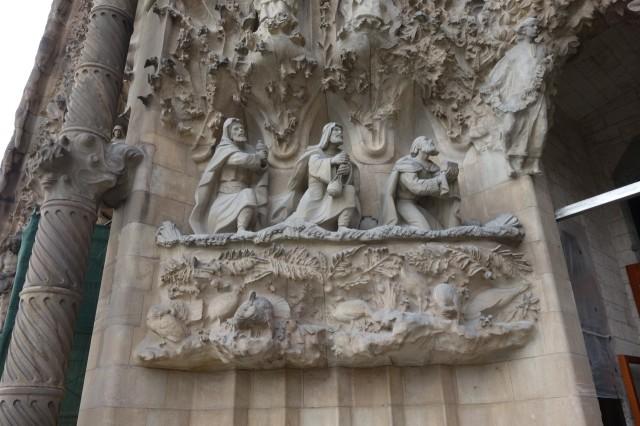 サグラダファミリア 生誕のファサード彫刻1