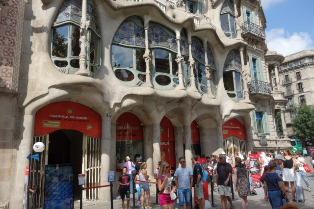 [バルセロナ] カサ・バトリョはうっとりする建物でした