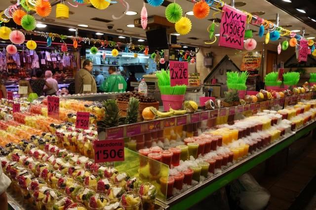 ボケリア市場のフルーツジュース