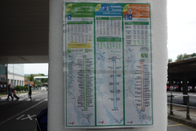 サンセバスチャン空港のバス時刻表
