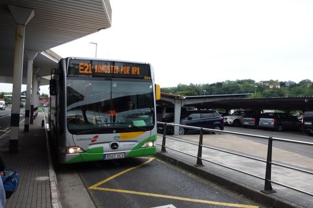 サンセバスチャンからビルバオへのバスでの移動