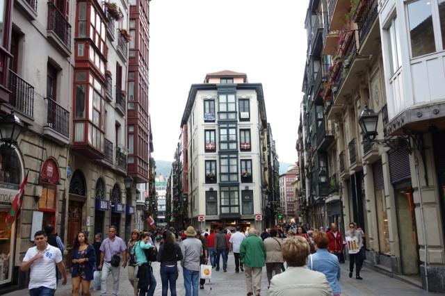 ビルバオ旧市街の街並み