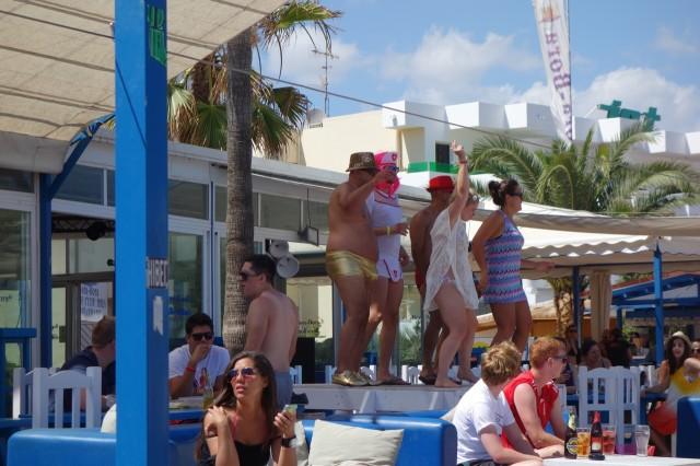 Bora Bora Ibiza お立ち台