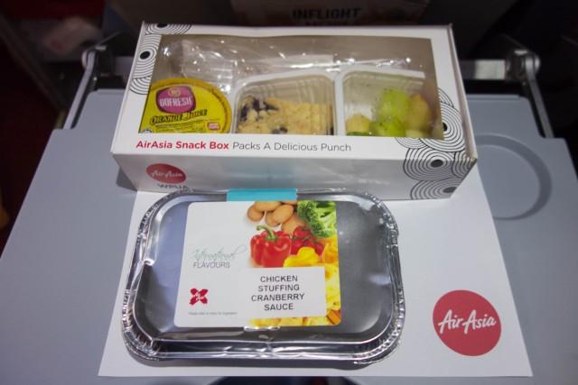 エアアジア機内食チキンクランベリーソース