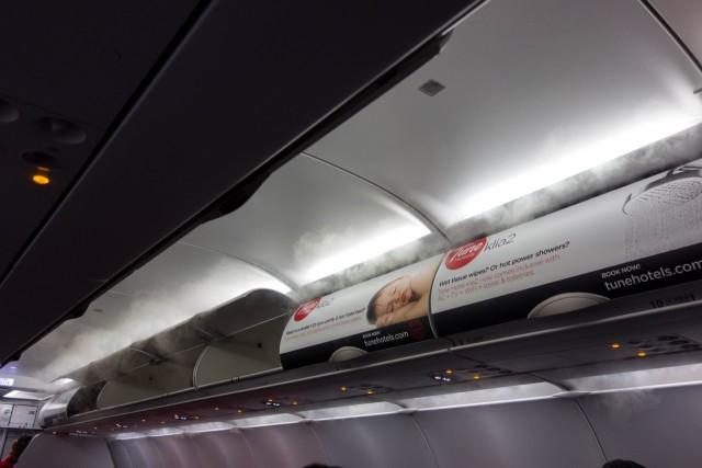 機内はかなり寒い
