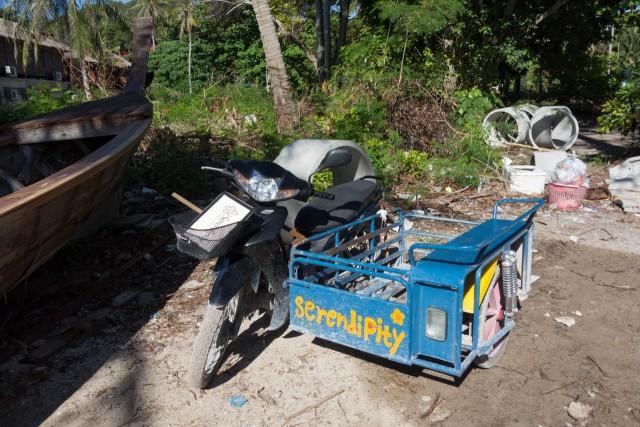 リヤカー付きバイク