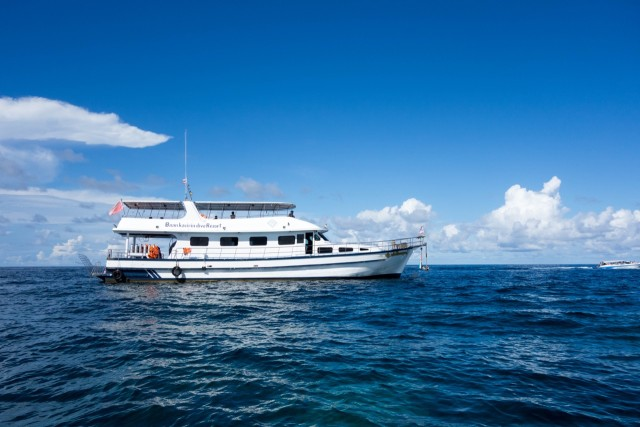 リペ島シュノーケリングツアーの船