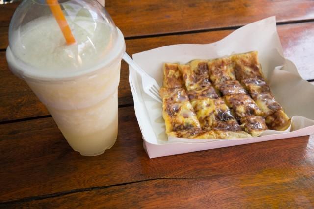 mix fruits cheese roti & milk shake