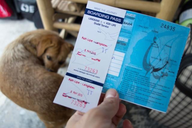 リペ島からランカウイのチケット