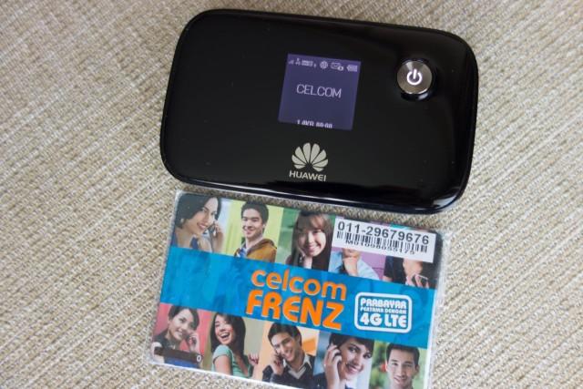 CelcomのプリペイドSIMカード