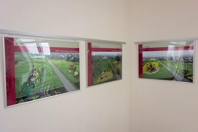 過去の田んぼアートの展示