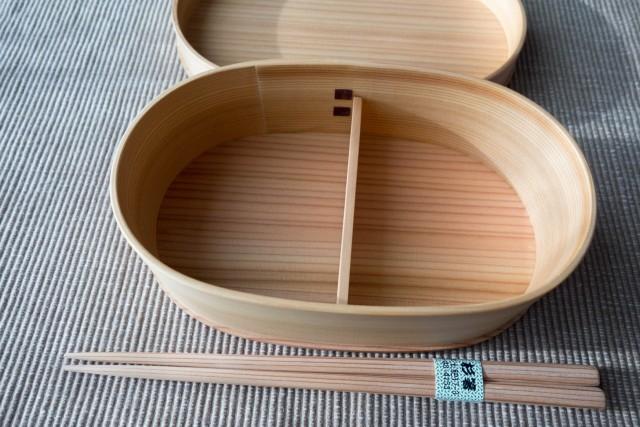 曲げわっぱと秋田杉の箸