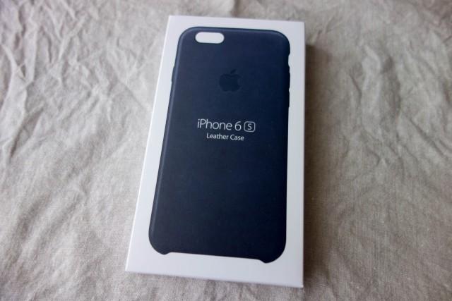 iPhone6s純正レザーケース ミッドナイトブルー