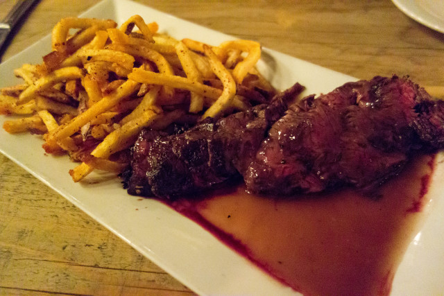 hanger steak frites