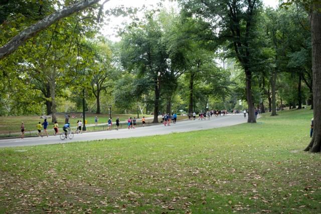 セントラルパークでマラソン大会
