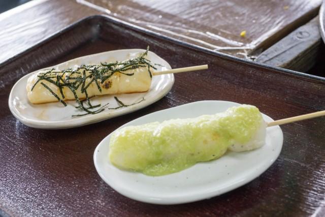 だんご(海苔醤油とずんだ)