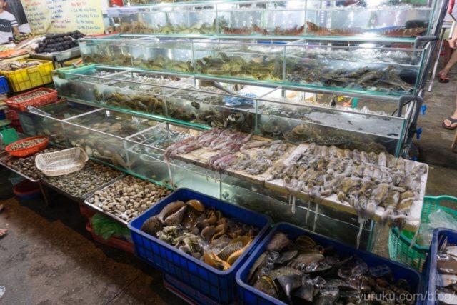 魚介類がたくさん