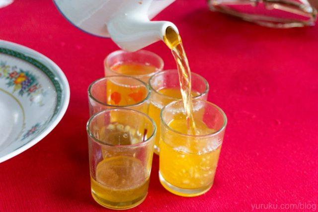 ハチミツと金柑のお茶