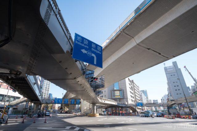 渋谷南口の交差点