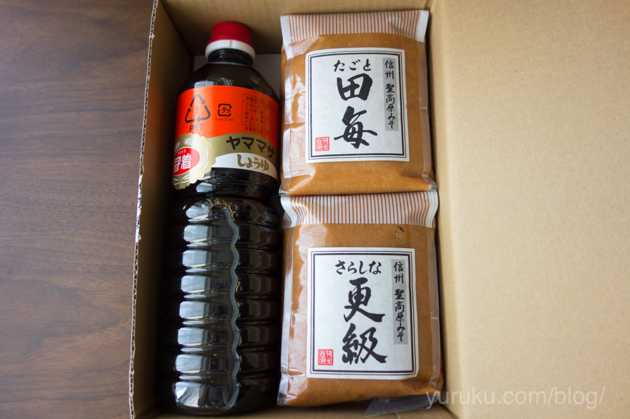味噌と醤油(長野県千曲市)