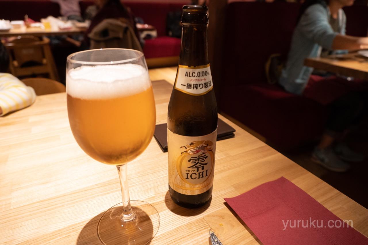 ノンアルコールビール(キリン零ICHI)