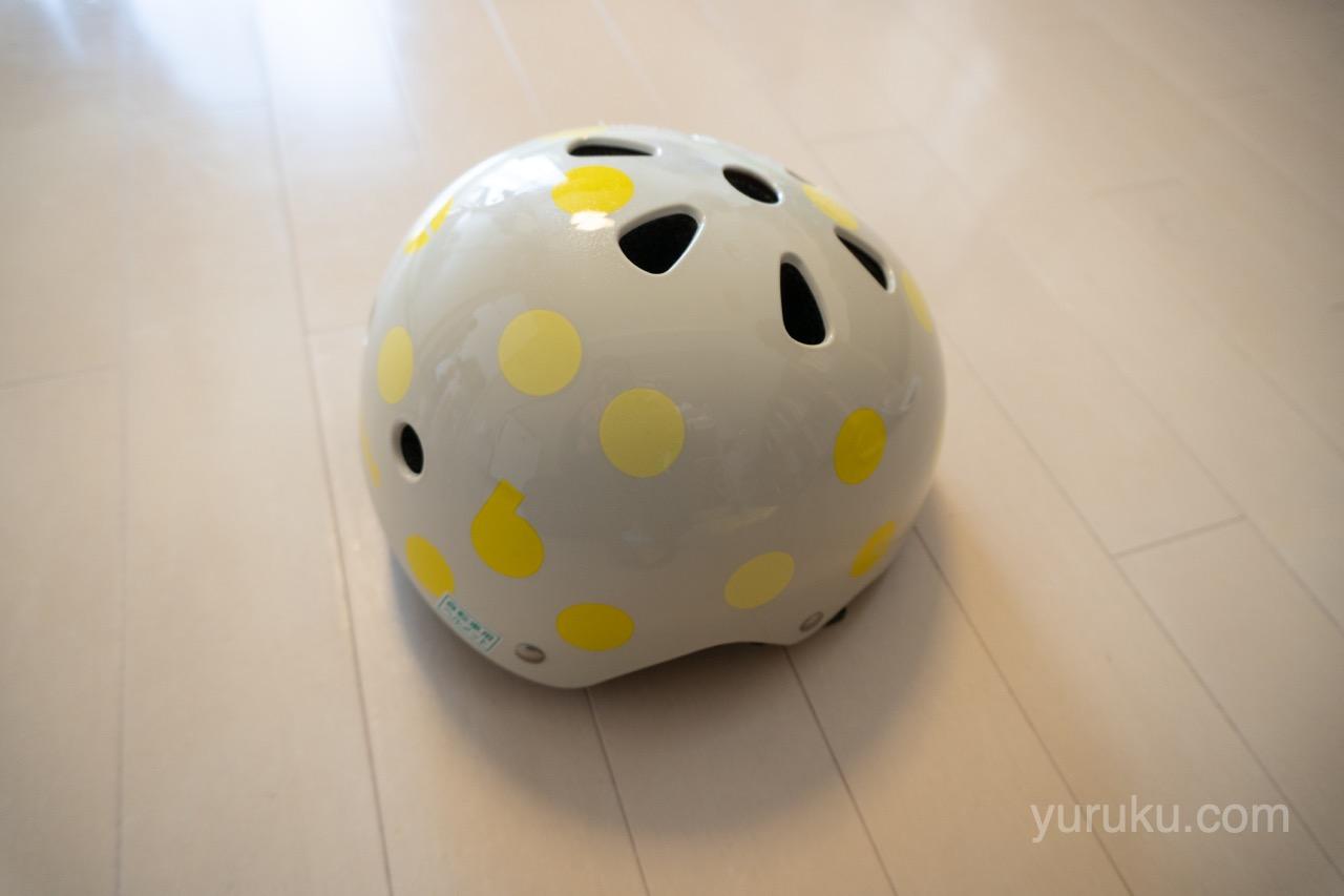 bikke純正ヘルメット(水玉・黄色)