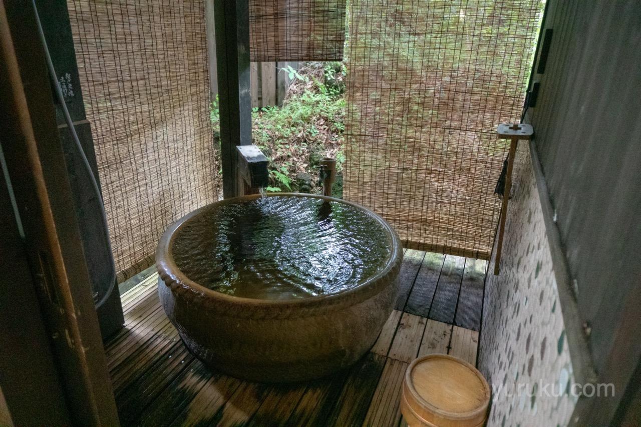 部屋付き露天風呂(竹ぶえ)