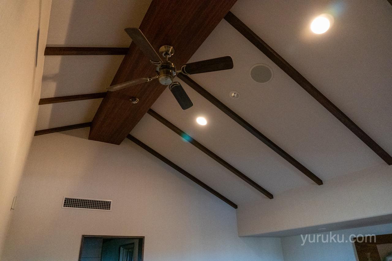 2階の天井(シーリングファン)