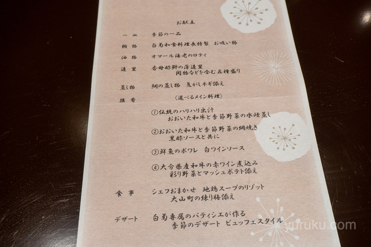 夕食のメニュー(ガーランド12)