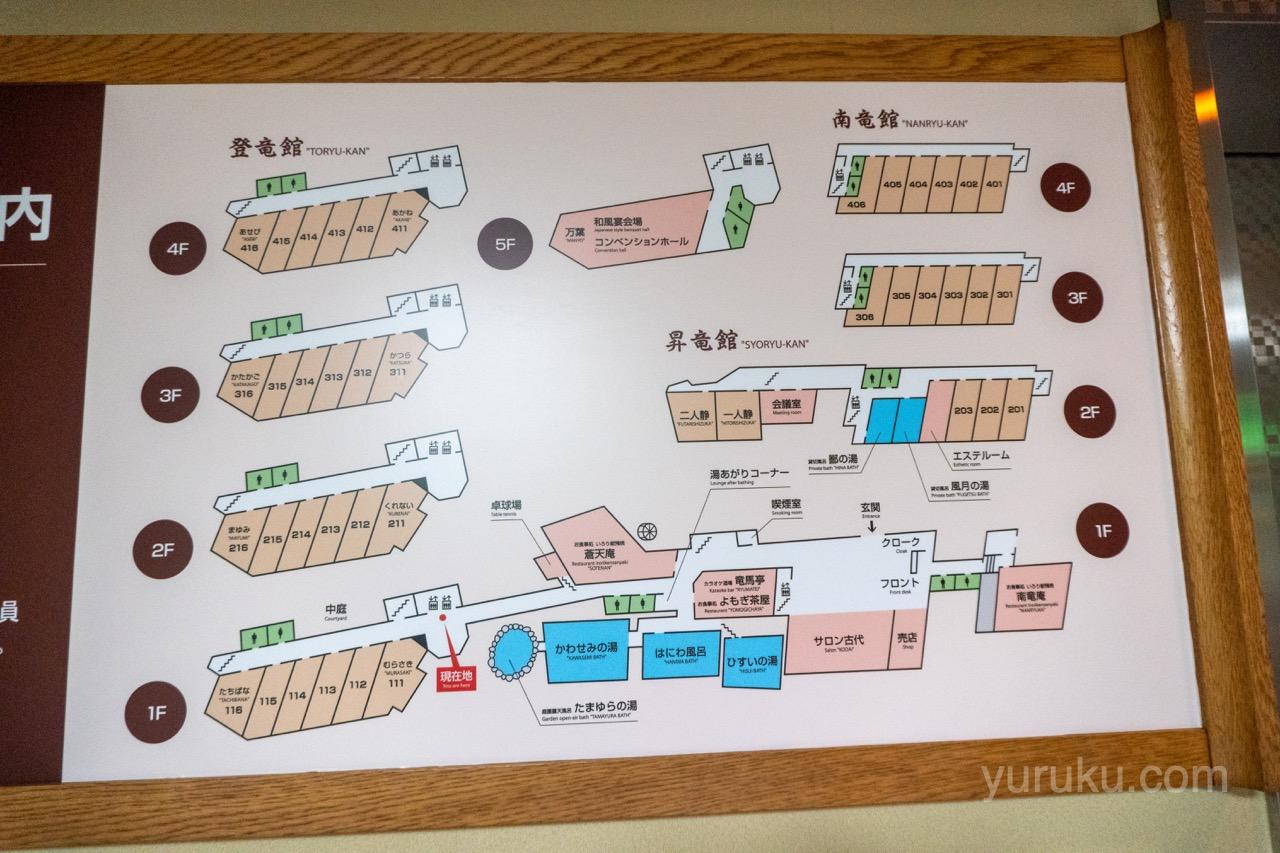 辰巳館の館内図
