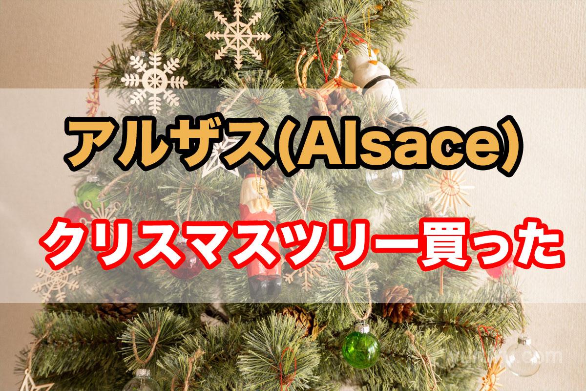 アルザス(Alsace)のクリスマスツリー買った。